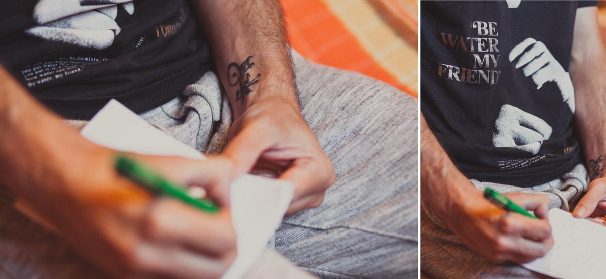 preparativos novio tatuaje