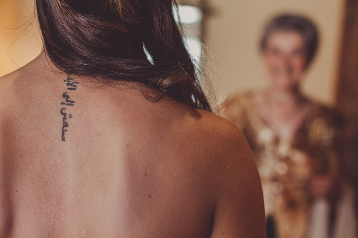 tatuaje novia, fotografía de boda