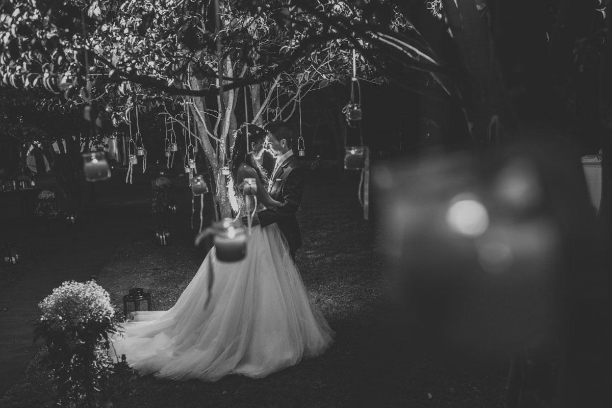 fotografía nocturna de boda, fotografía artística