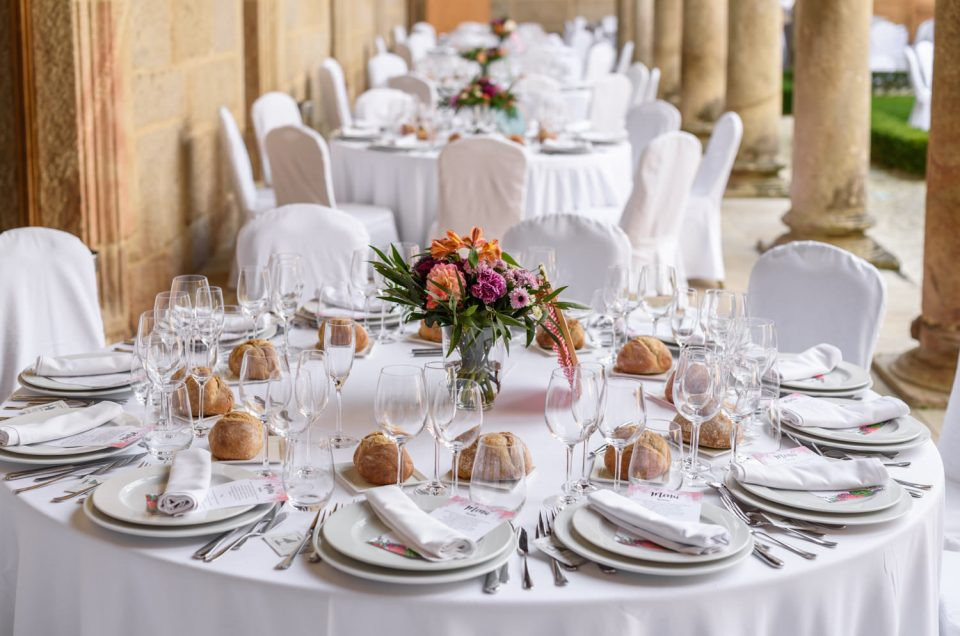 Decoraciones de boda en el Monasterio de San Clodio