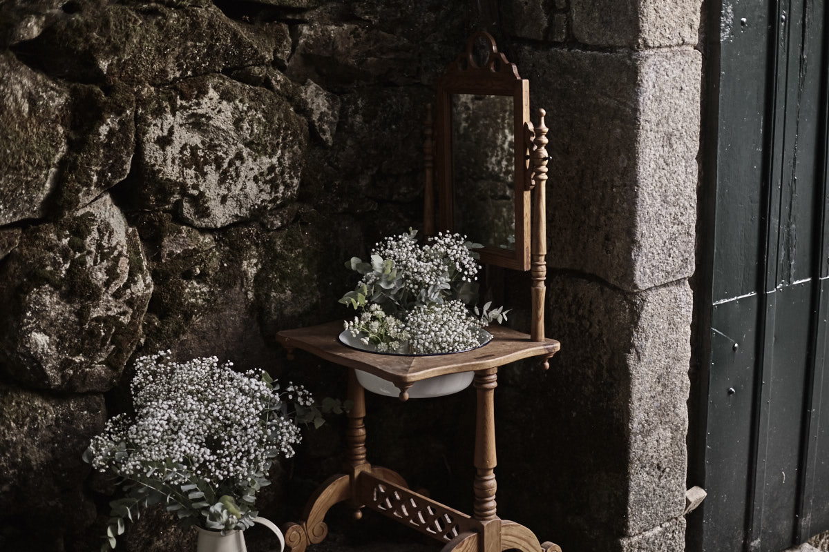 decoración de boda en pazo faramello