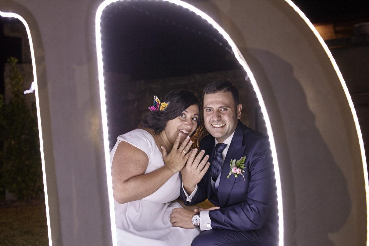 fotografía nocturna de boda