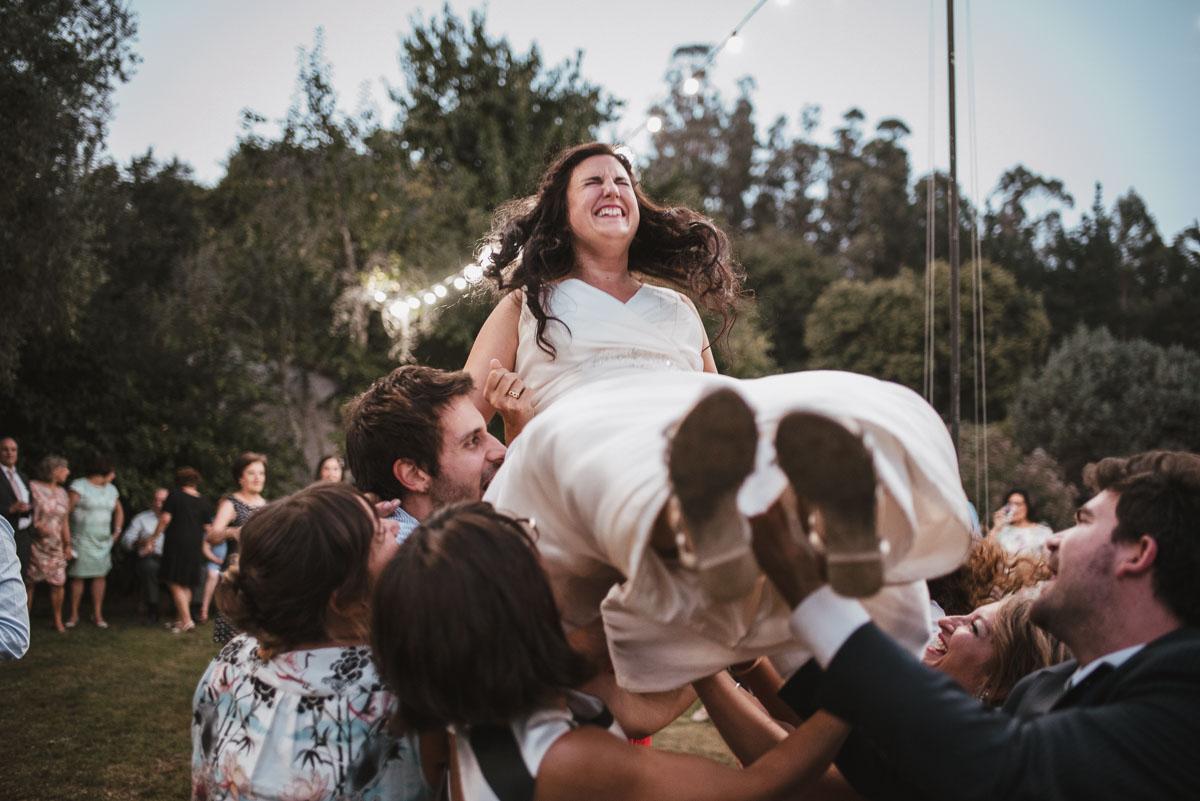 fiesta de boda en pazo andeade